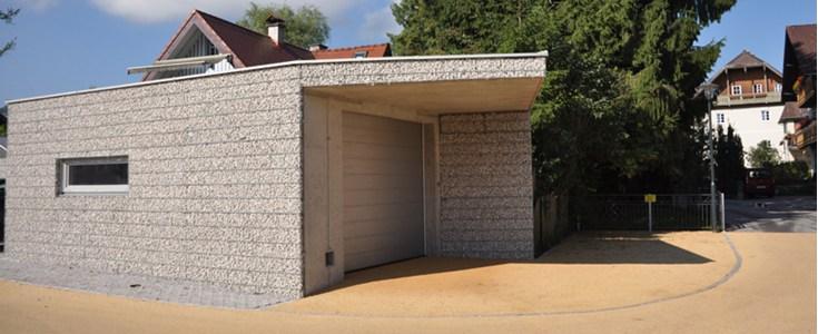 kiesfassade steinkorbsysteme w m a wir machen alles stefan danglmaier. Black Bedroom Furniture Sets. Home Design Ideas